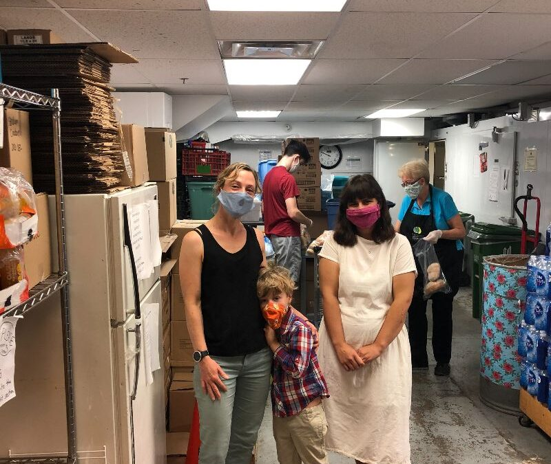 Cohousing Toronto donates $500 to the Parkdale Community foodbank